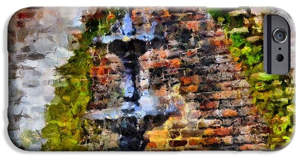 Alga Mixed Media iPhone Cases - Old Water Fountain iPhone Case by Dan Sproul