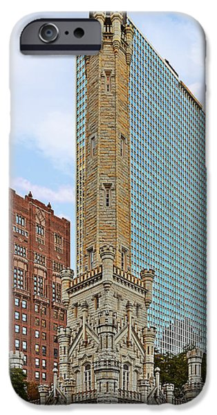 Old Chicago Water Tower iPhone Cases - Old Water Tower Chicago iPhone Case by Christine Till