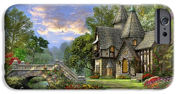 Gothic iPhone Cases - Old Waterway Cottage iPhone Case by Dominic Davison