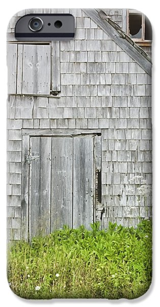Maine Barns iPhone Cases - Old Weathered Building In Maine iPhone Case by Keith Webber Jr