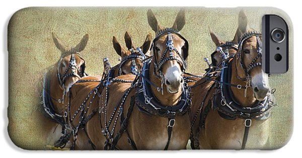 Recently Sold -  - Texture iPhone Cases - Old West Mule Train iPhone Case by Betty LaRue