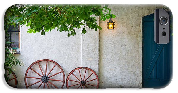 Europa iPhone Cases - Old Wheels iPhone Case by Inge Johnsson