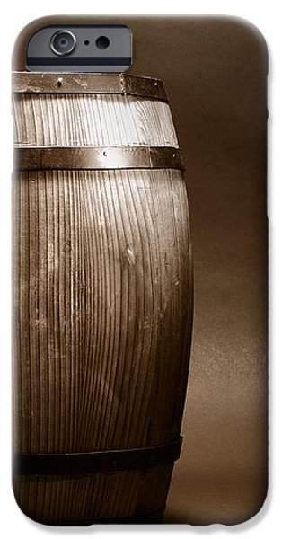 Old Whisky Barrel iPhone Case by Olivier Le Queinec