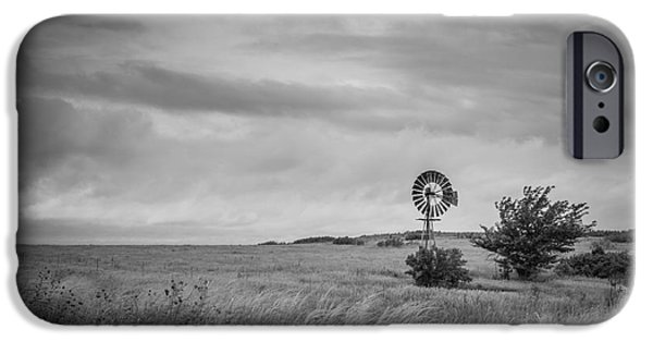 Michael Versprill iPhone Cases - Old Windmill BW iPhone Case by Michael Ver Sprill