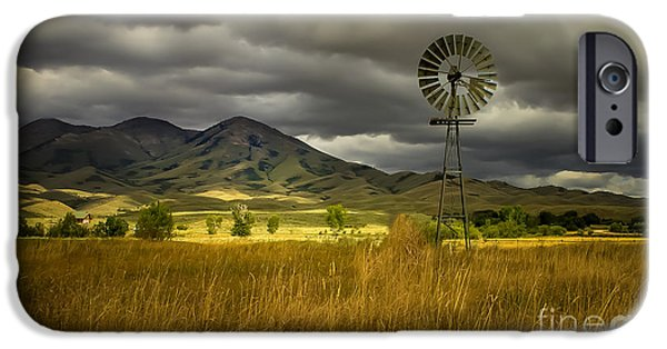 Haybale iPhone Cases - Old Windmill iPhone Case by Robert Bales