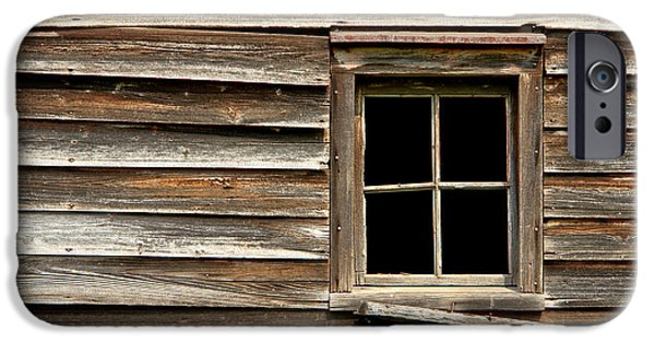 Clapboard House iPhone Cases - Old Window and Clapboard iPhone Case by Olivier Le Queinec