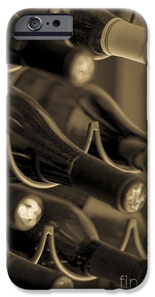 Wine Bottles Photographs iPhone Cases - Old Wine Bottles iPhone Case by Diane Diederich