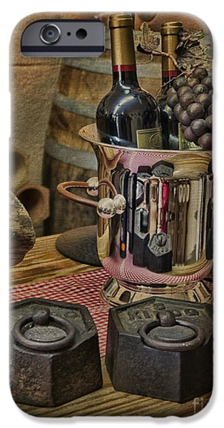 Wine Bottles iPhone Cases - Old wine iPhone Case by Gillian Singleton