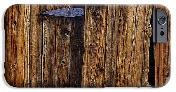 Board iPhone Cases - Old Wood Barn iPhone Case by Garry Gay