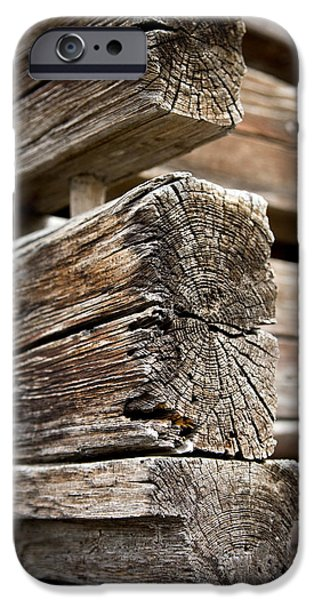Shed iPhone Cases - Old Wood iPhone Case by Frank Tschakert