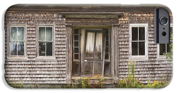 House iPhone Cases - Old Wood Shingle House iPhone Case by Keith Webber Jr