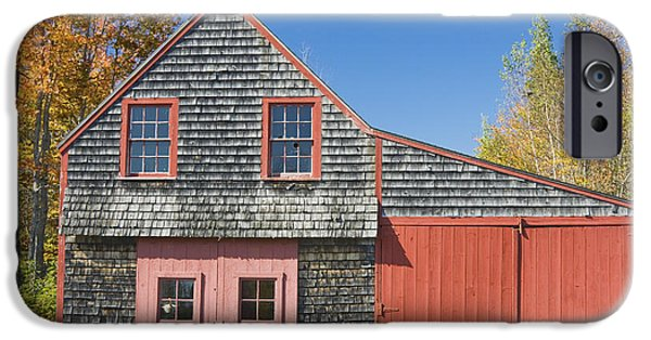 Sheds iPhone Cases - Old Wood Shingle Shed iPhone Case by Keith Webber Jr
