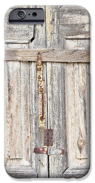Sheds iPhone Cases - Old wooden doorway iPhone Case by Tom Gowanlock