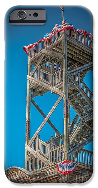 Old Glory iPhone Cases - Old Wooden Watchtower Key West - HDR Style iPhone Case by Ian Monk