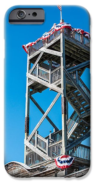Old Glory iPhone Cases - Old Wooden Watchtower Key West iPhone Case by Ian Monk