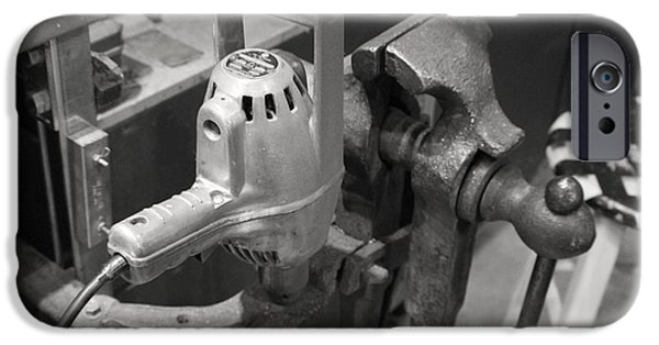 Work Tool iPhone Cases - Old Work Shop iPhone Case by Trent Mallett