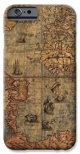 Old World Map iPhone Case by Dan Sproul
