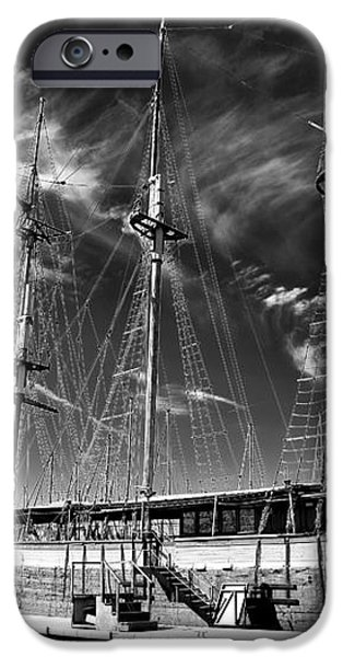Old World Sailboat iPhone Case by John Rizzuto