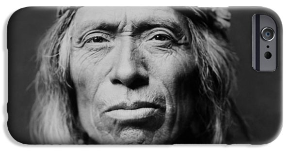 Sheriff iPhone Cases - Old Zuni Man circa 1903 iPhone Case by Aged Pixel
