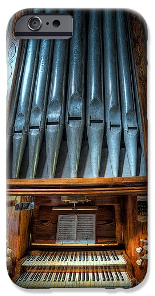 Keyboard iPhone Cases - Olde Church Organ iPhone Case by Adrian Evans