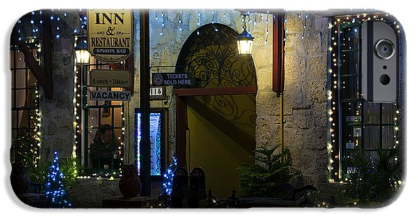Christmas Holiday Scenery iPhone Cases - Olde Inn At Christmas iPhone Case by Kenneth Albin