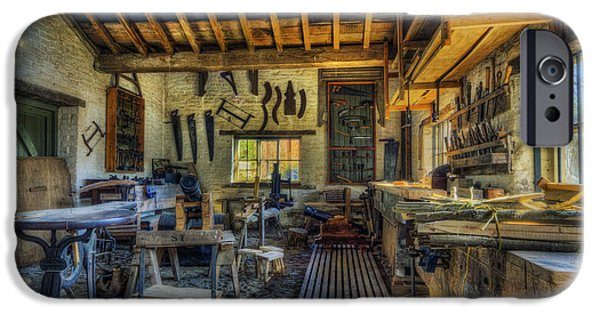 Workbench iPhone Cases - Olde Workshop iPhone Case by Ian Mitchell