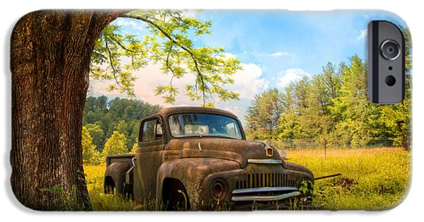 1956 Ford Truck iPhone Cases - Oldie Goldie iPhone Case by Debra and Dave Vanderlaan