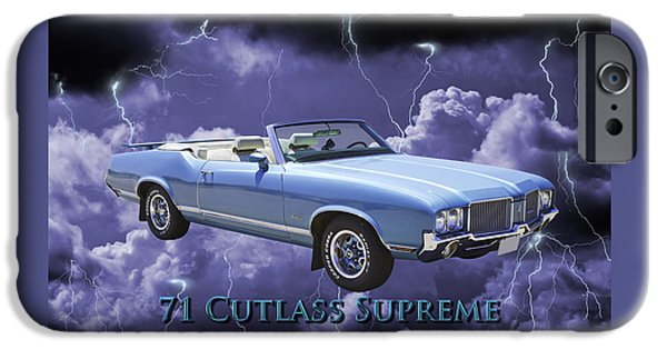 Sportcars iPhone Cases - Oldsmobile Cutlass Supreme Muscle Car iPhone Case by Keith Webber Jr