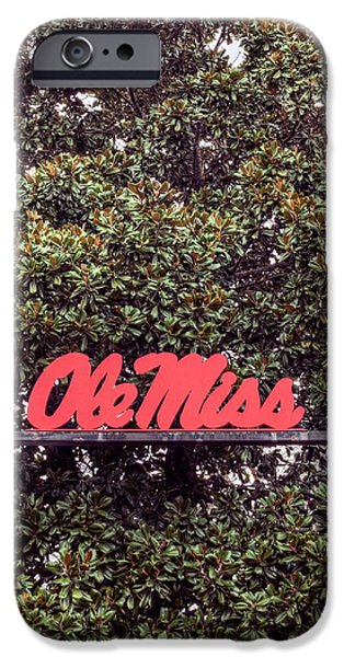 Sec iPhone Cases - Ole Miss iPhone Case by JC Findley