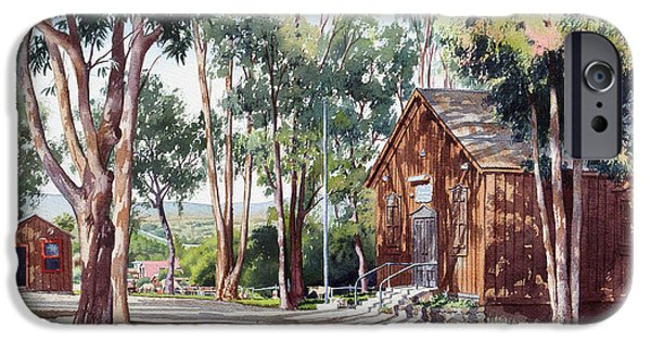 House iPhone Cases - Olivenhain Meeting House iPhone Case by Mary Helmreich