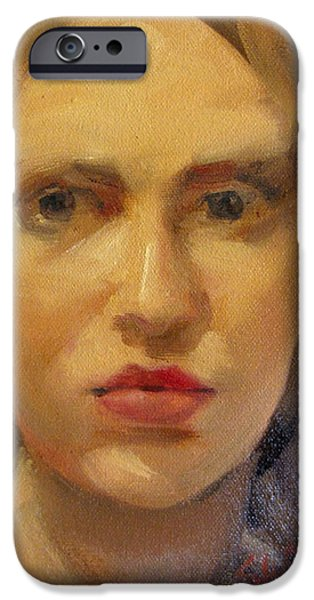 Lips iPhone Cases - Olivia iPhone Case by Neal Smith-Willow