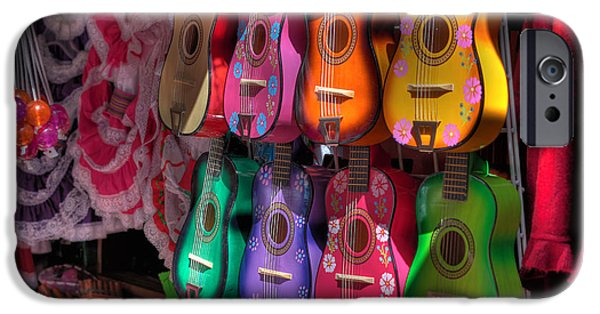 Ukelele iPhone Cases - Olvera Street Ukeleles iPhone Case by Richard Hinds
