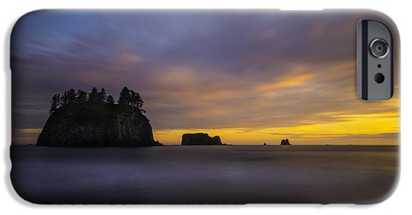 Rainforest iPhone Cases - Olympic Coast Sunset iPhone Case by Larry Marshall