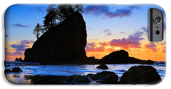 Solitude Photographs iPhone Cases - Olympic Sunset iPhone Case by Inge Johnsson
