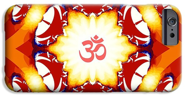 Hindu Goddess iPhone Cases - Om Broadcast Via Dish Antennae iPhone Case by M Rao