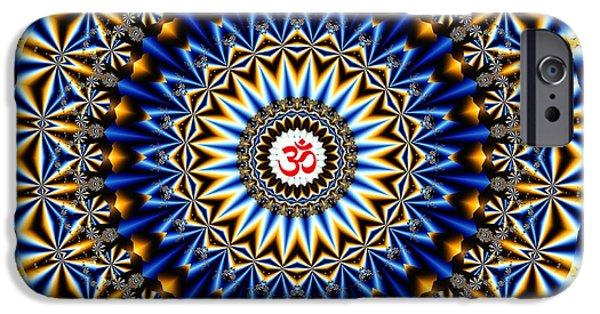 Hindu Goddess iPhone Cases - Om Kaleidoscope iPhone Case by M Rao