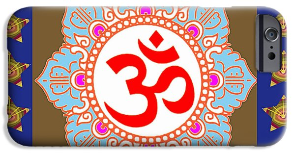 Boston iPhone Cases - OM Mantra OmMantra Chant Yoga Meditation Tool iPhone Case by Navin Joshi