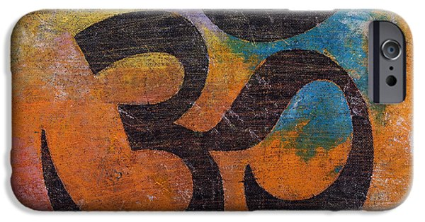 Hinduism iPhone Cases - Om iPhone Case by Michael Creese