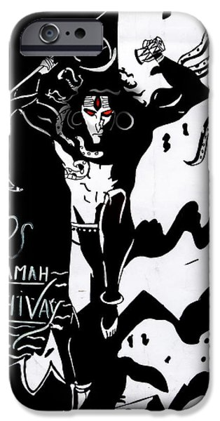 Sheets Drawings iPhone Cases - Om Namah Shivay iPhone Case by Vicasso Destiny