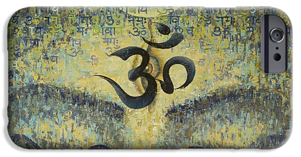 Hinduism iPhone Cases - Om iPhone Case by Vrindavan Das