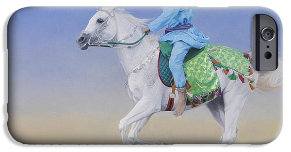 Sprint iPhone Cases - Oman Cavalryman iPhone Case by Emma Kennaway