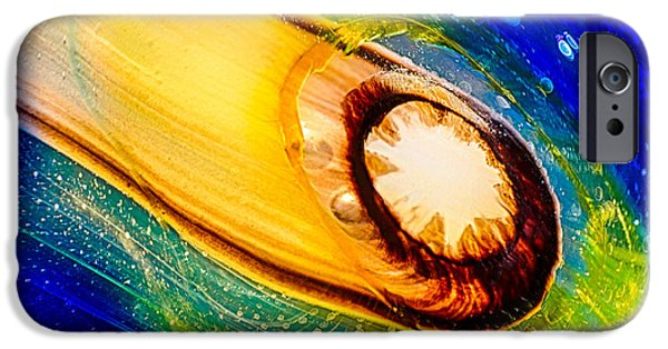 Van Goh Glass Art iPhone Cases - Omastes Comet iPhone Case by Omaste Witkowski