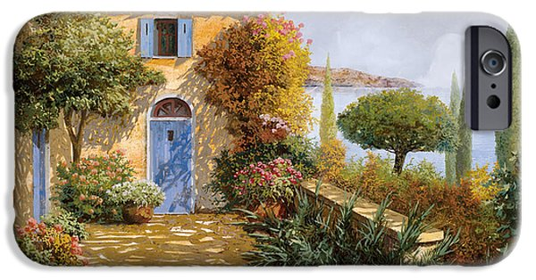 Terraces iPhone Cases - Ombre Sul Terrazzo iPhone Case by Guido Borelli