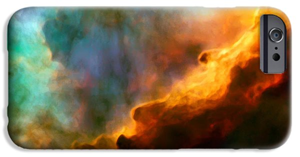 Cosmo iPhone Cases - Omega Swan Nebula 3 iPhone Case by The  Vault - Jennifer Rondinelli Reilly