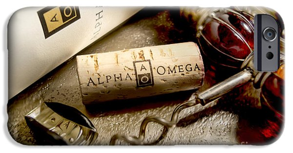 Red Wine iPhone Cases - Omega Uncorked iPhone Case by Jon Neidert