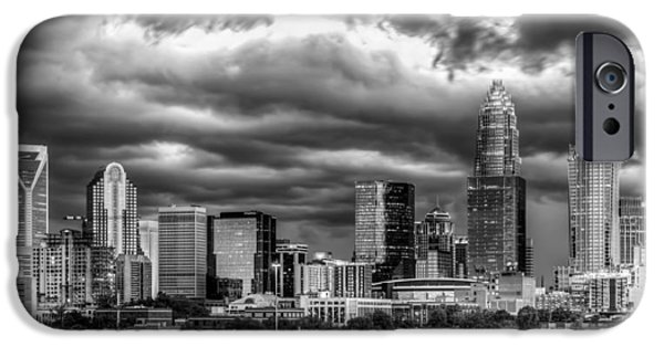 Charlotte iPhone Cases - Ominous Charlotte Sky iPhone Case by Chris Austin