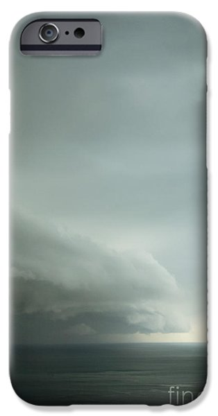 Turbulent Skies iPhone Cases - Ominous Skies I iPhone Case by Margie Hurwich
