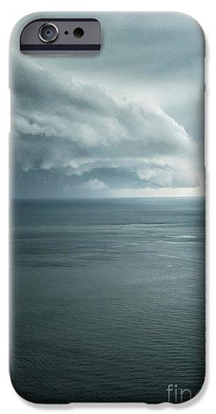Turbulent Skies iPhone Cases - Ominous Skies II iPhone Case by Margie Hurwich
