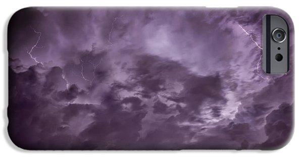 Schwartz Digital iPhone Cases - Ominous Sky iPhone Case by Donald Schwartz