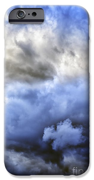 Winter Storm iPhone Cases - Ominous Storm Clouds iPhone Case by Thomas R Fletcher